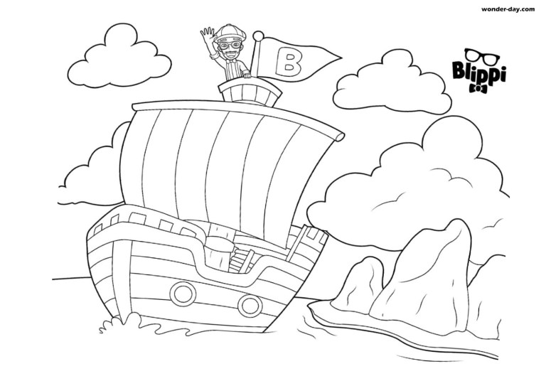 Free Blippi Coloring Pages