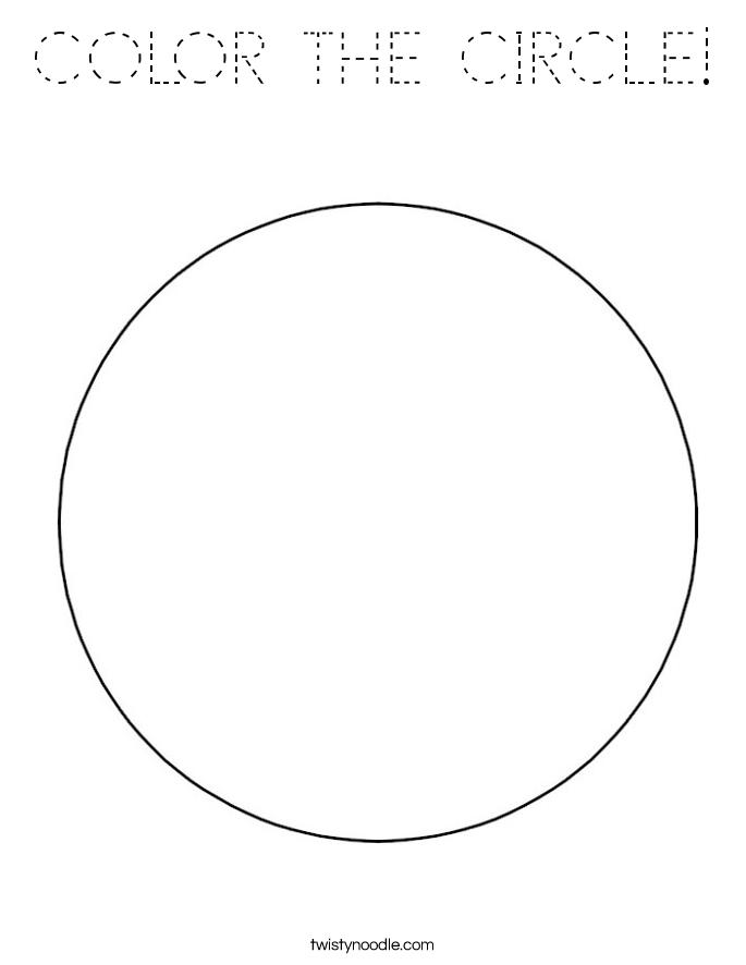 Free Circle Coloring Sheet Online