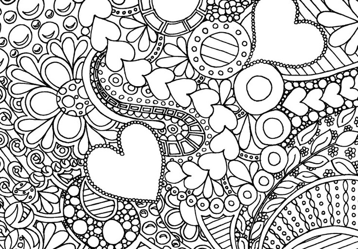 free difficult coloring pages for adults love images