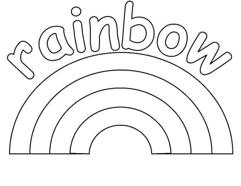 free downloads rainbow coloring pageth color words