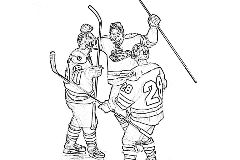 free hockey coloring pages for kids to print
