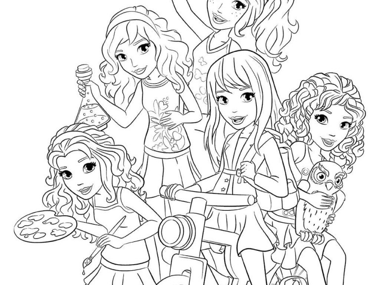 Free Lego Friends Colouring Pages