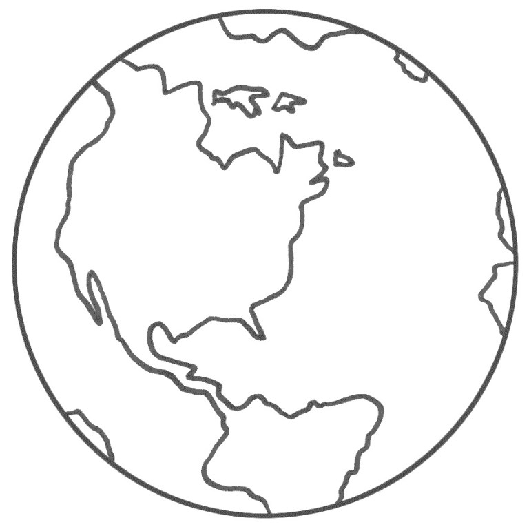 free printable 3D planet coloring page for kids