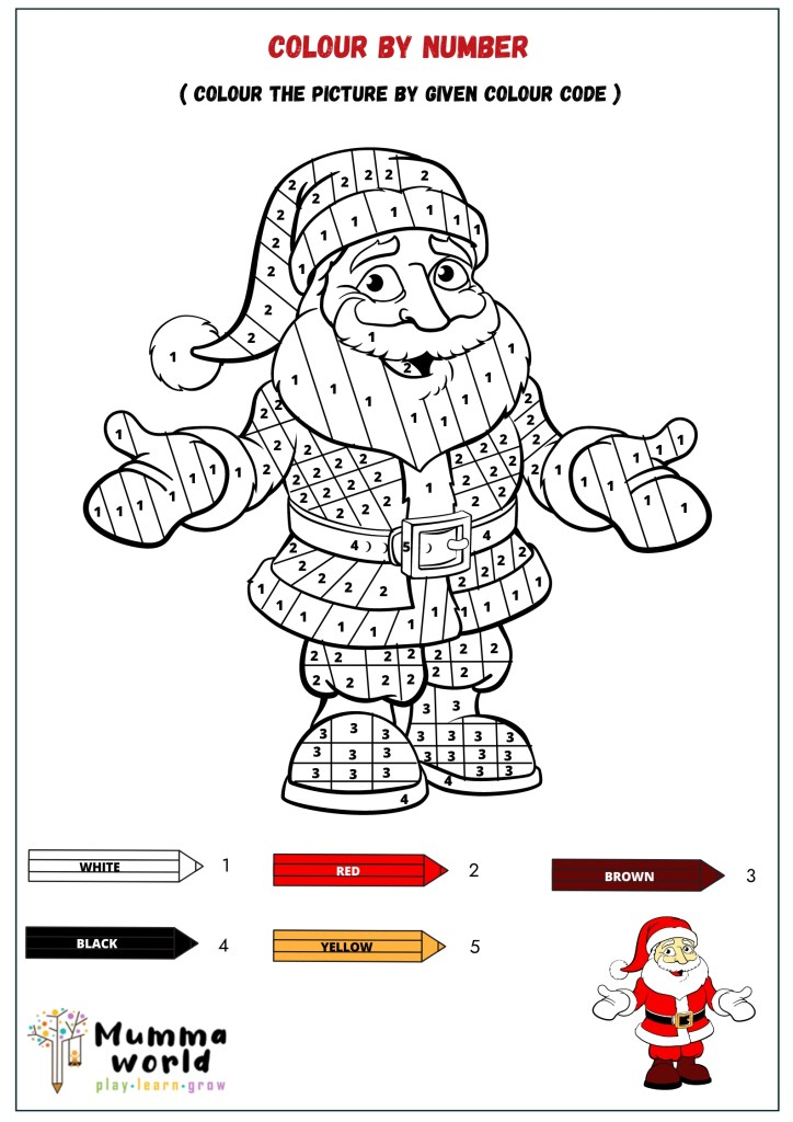 Free Printable Color By Number Christmas