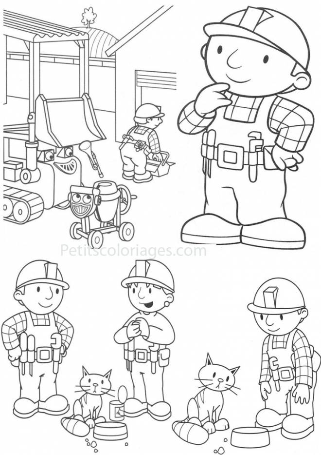 free printable construction site coloring for boy