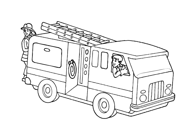 free printable fire truck coloring pages for kids image