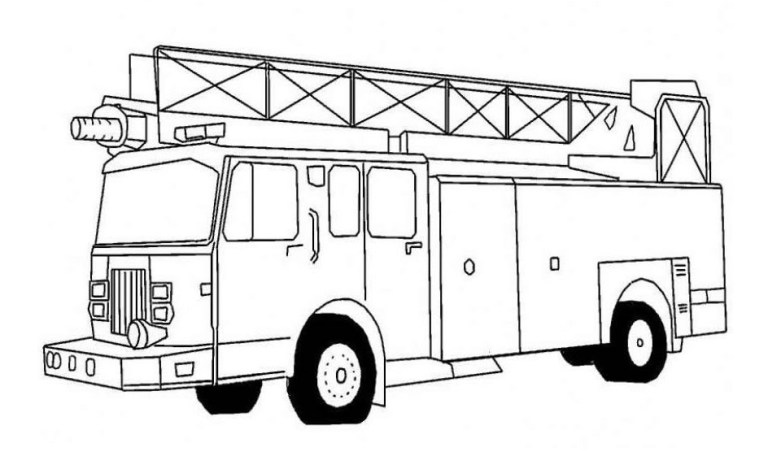free printable fire truck coloring pages to colour