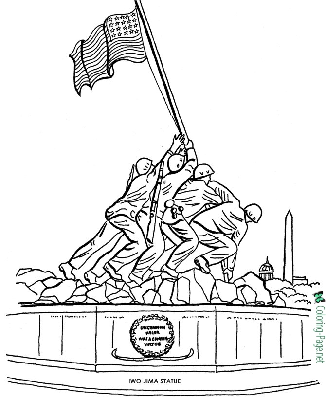 Free Printable Veterans Day Coloring Pages