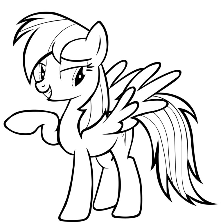 Free Rainbow Dash My Little Pony Coloring Pages