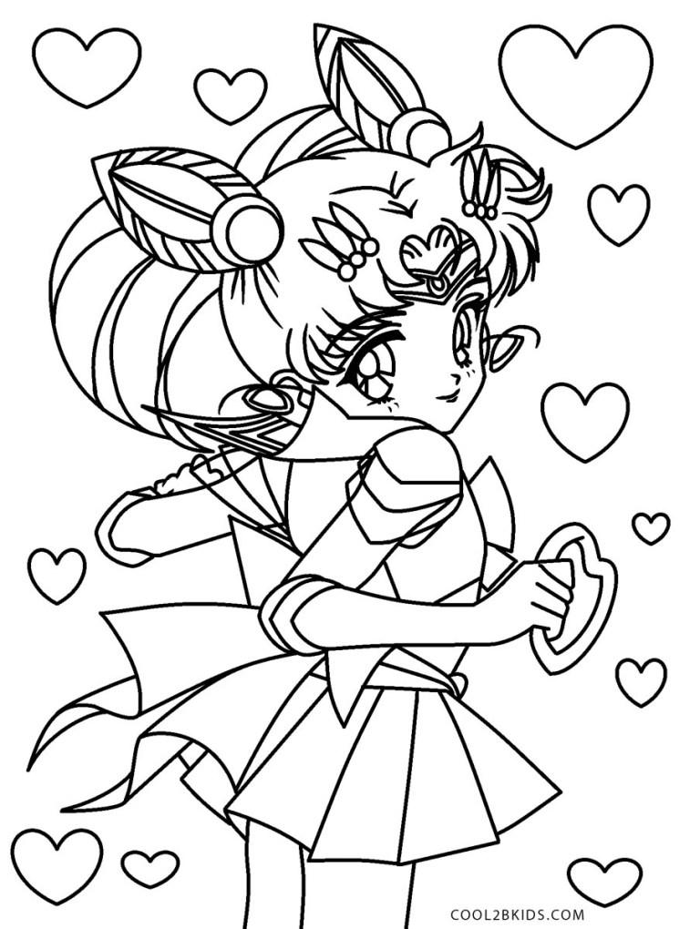 Free Sailor Moon Coloring Pages For Adults