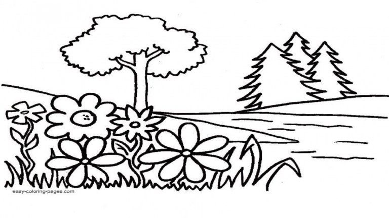 garden coloring pages free download on tinamaze