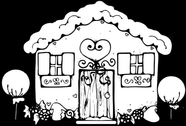 Gingerbread House Coloring Page Free
