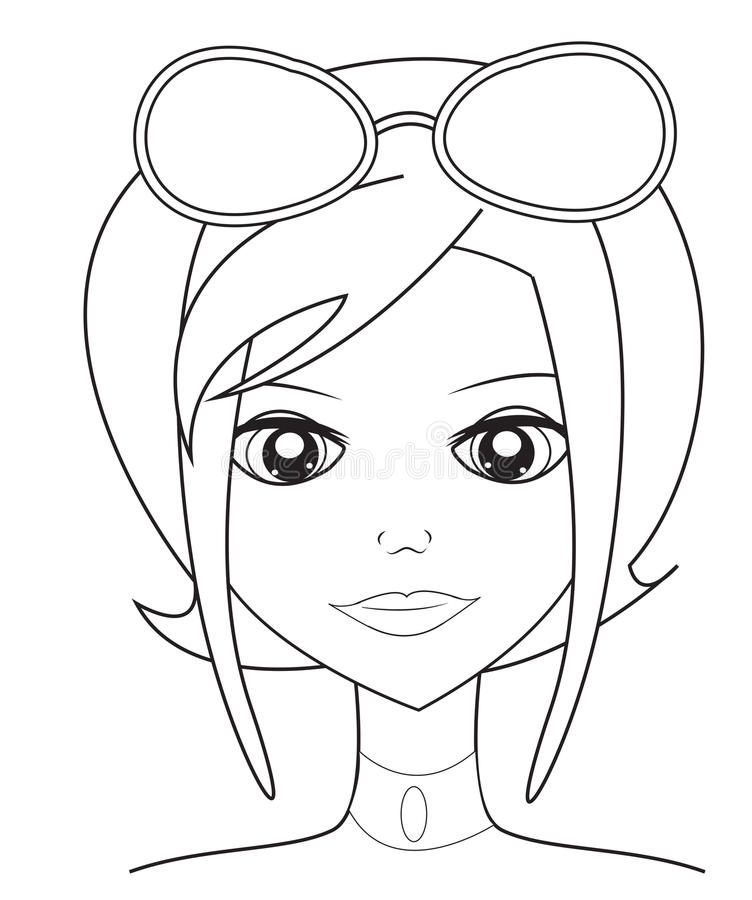 girl sunglasses coloring pages