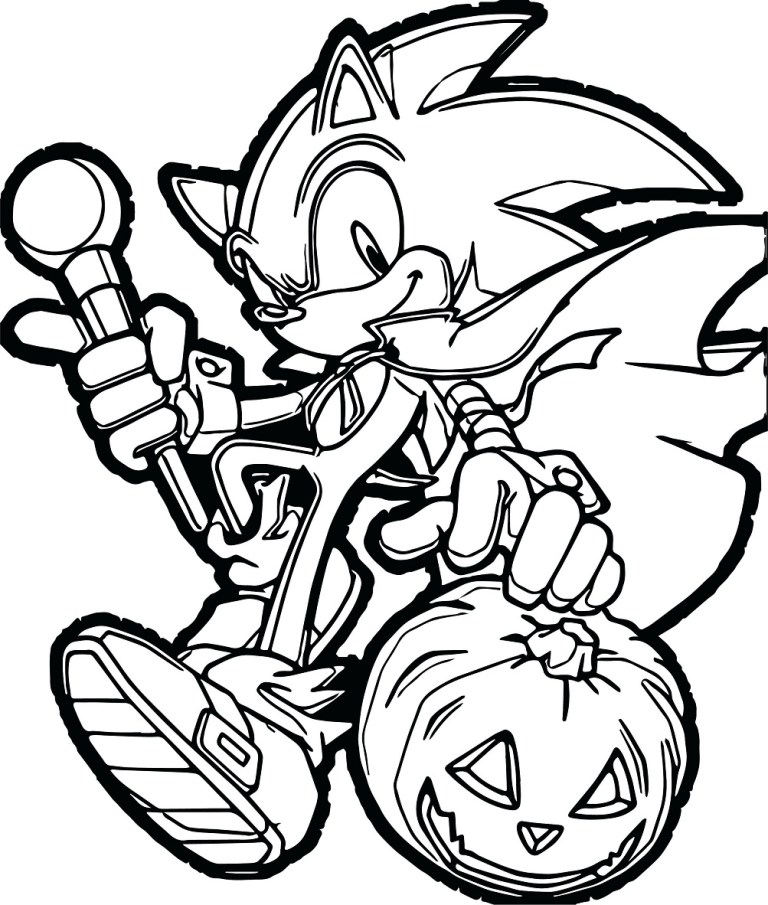 halloween Sonic Boom Coloring Pages