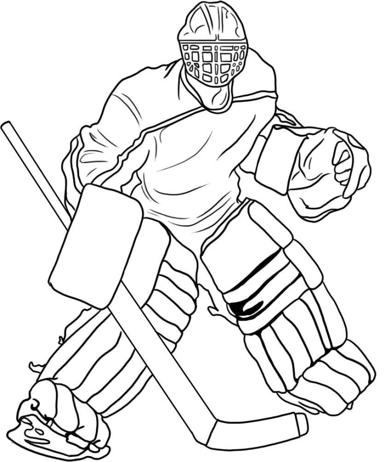 Hockey Coloring Pictures