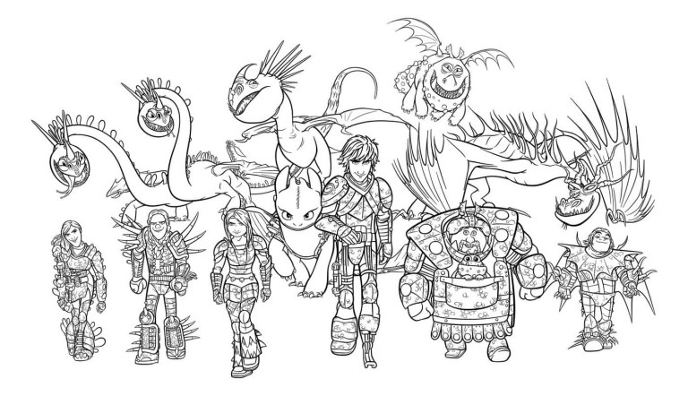 How To Train Your Dragon Coloring Pages Monstrous Nightmare
