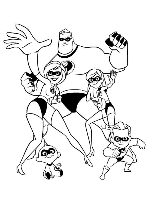 Incredibles Dash Coloring Pages