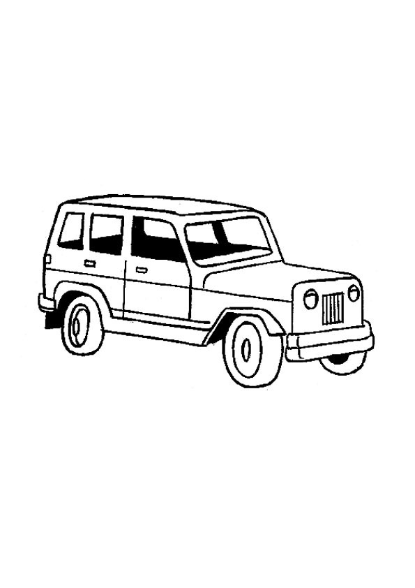 Jeep Coloring Pictures to download and print for free