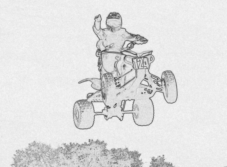 kids atv coloring pages to print online