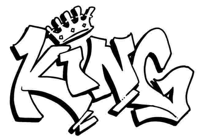 king Graffiti Coloring Pages Names