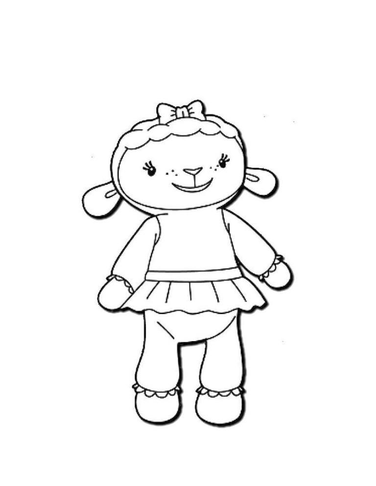 Lambie Doc Mcstuffins Coloring Pages