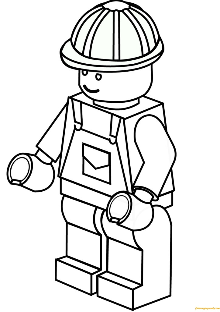 lego construction worker coloring online