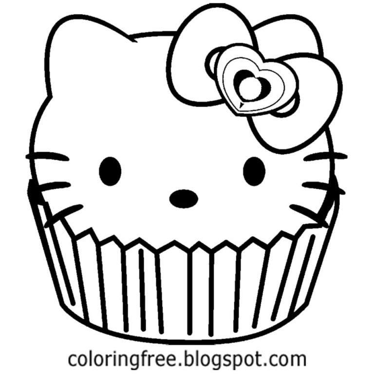 lets coloring book hello kitty themed cake