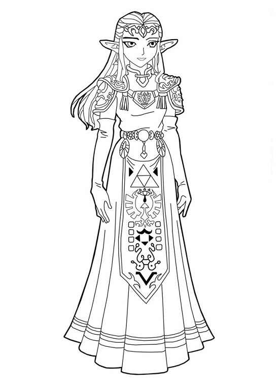 Link Botw Coloring Pages