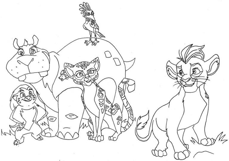 Lion Guard Coloring Page