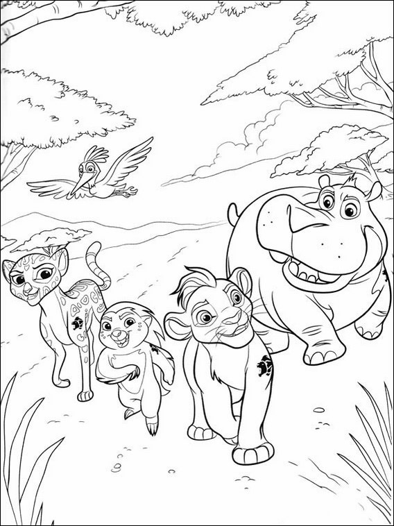 Lion Guard Pictures To Color