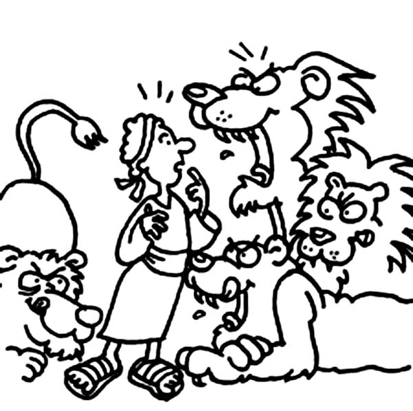 lions want to eat daniel in color free download