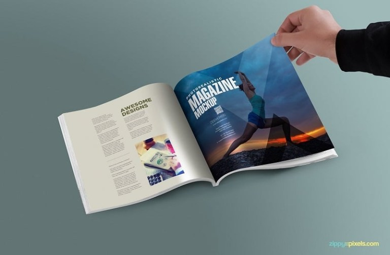 magazine psd Print Ad Mockup