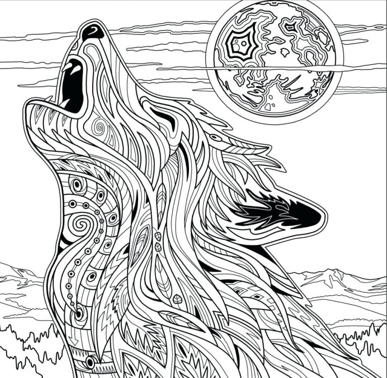 mandala style animal coloring pages