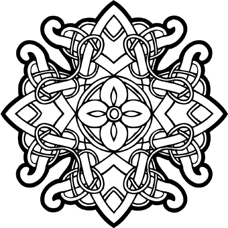 mandala with lines of different thicknesses mandalas ideas