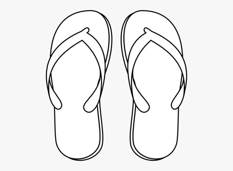mens flip flops drawing png
