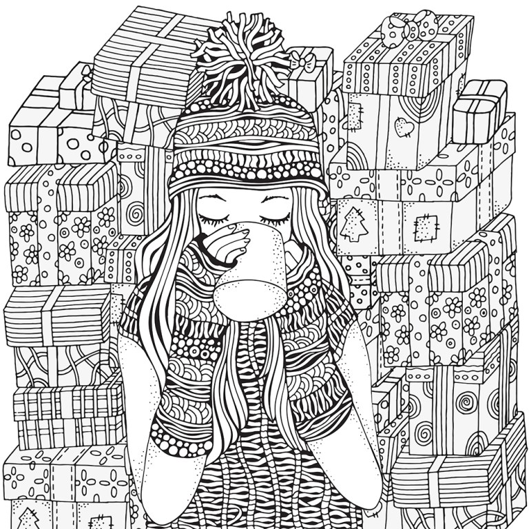 modern design coloring pages printable