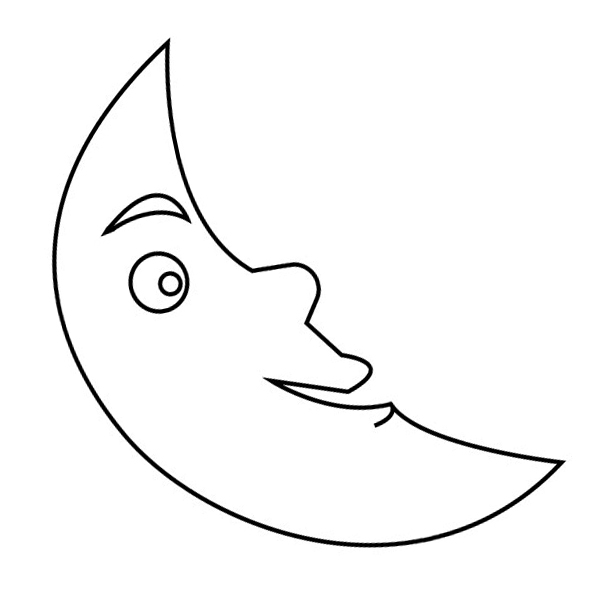 Moon Colouring Page