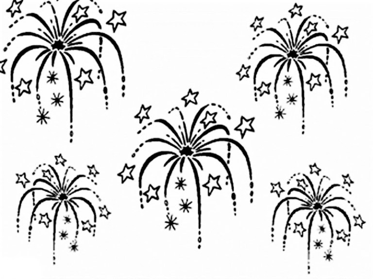 new design firework coloring pages to download and print for free