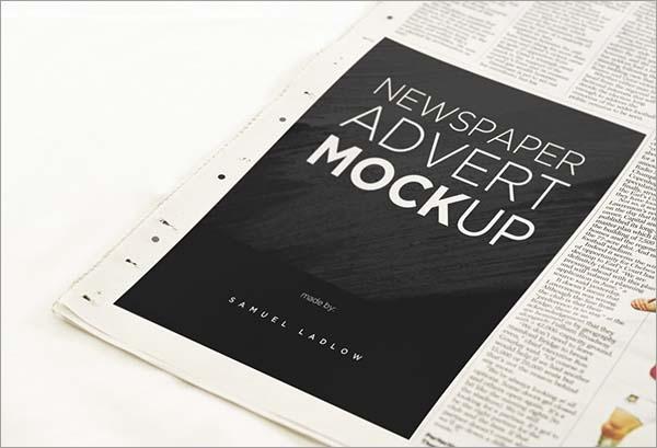 Newspaper Mockup Print Ad