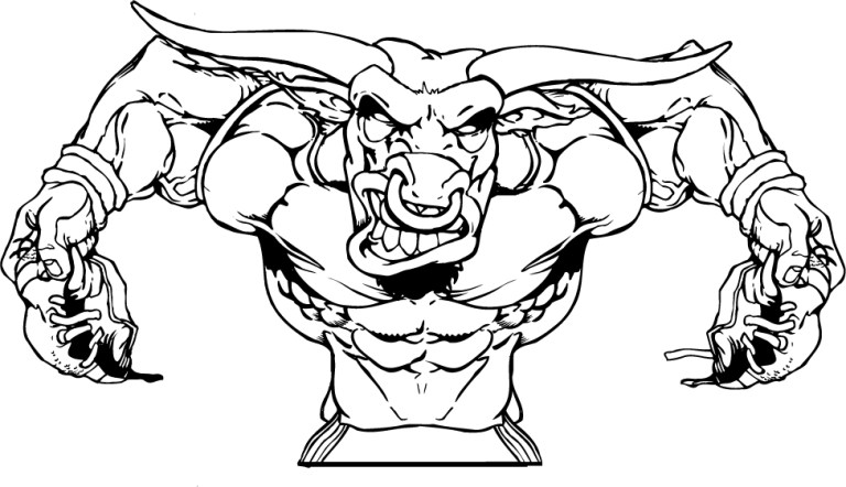 nfl mascot Chicago Bulls Coloring Pages
