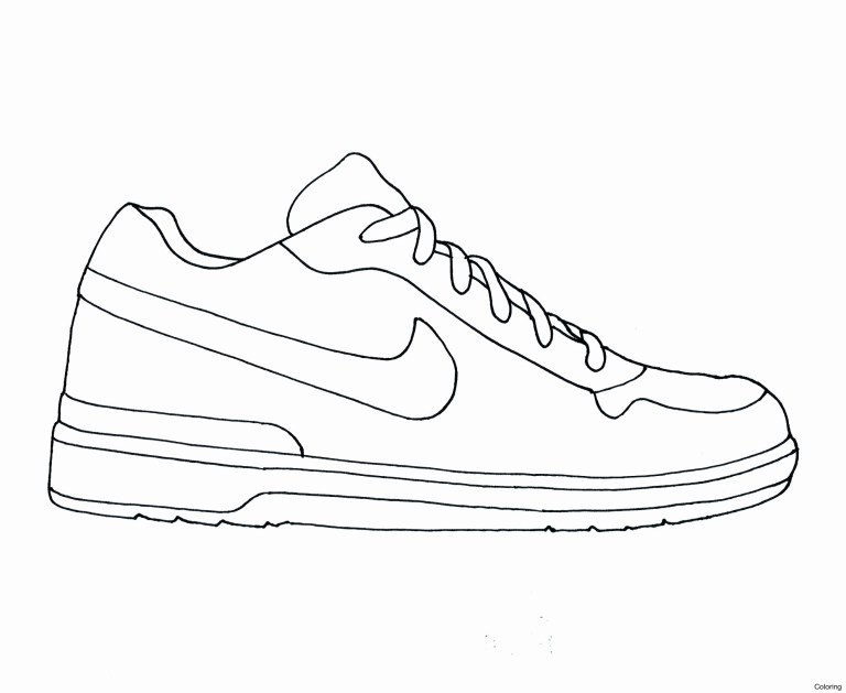 nike shoes coloring pages for boy to colour