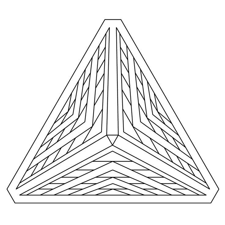 optical illusion 3D coloring to download and print for free