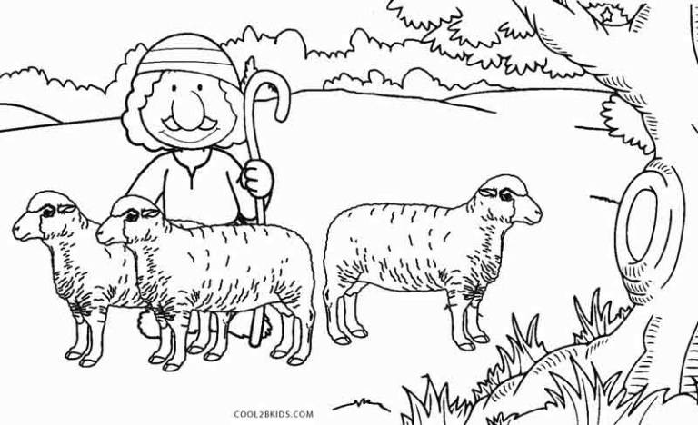 outdoor sheep face coloring page for kids images