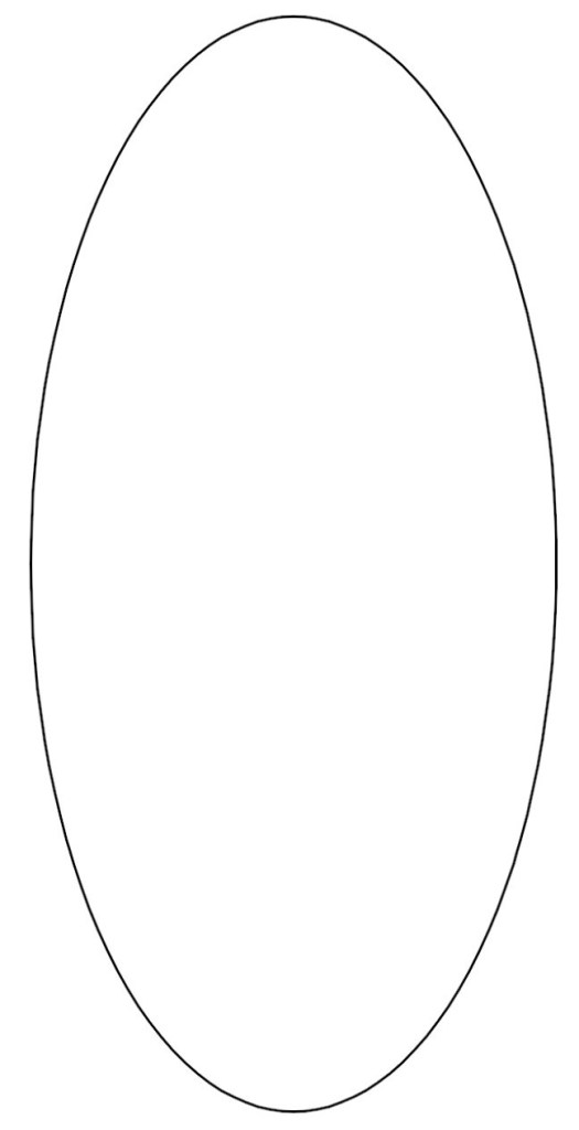 Oval Shape Coloring Pages