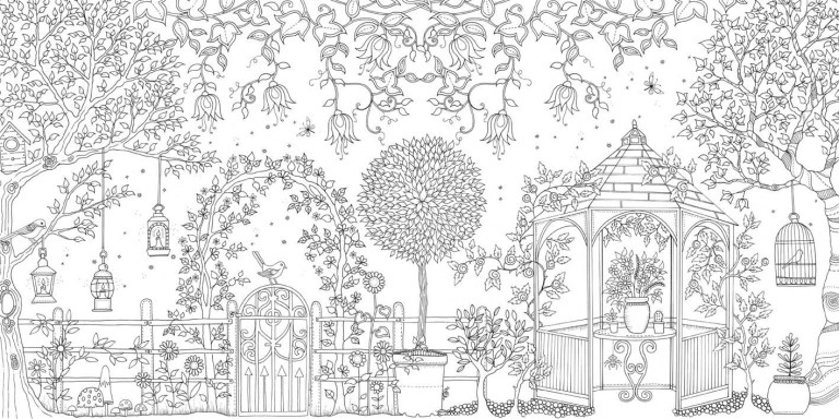 photo garden coloring pages to download and print for free