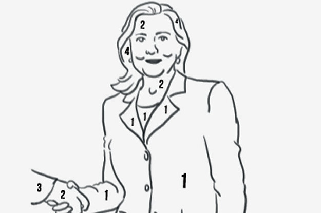 photo hillary clinton color numbers pantsuits