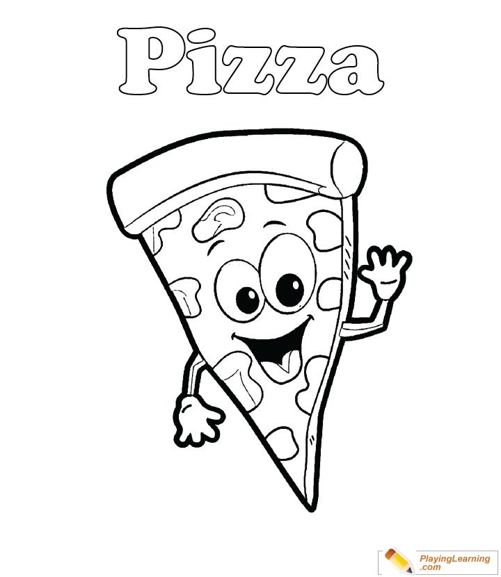 Pizza Color Page