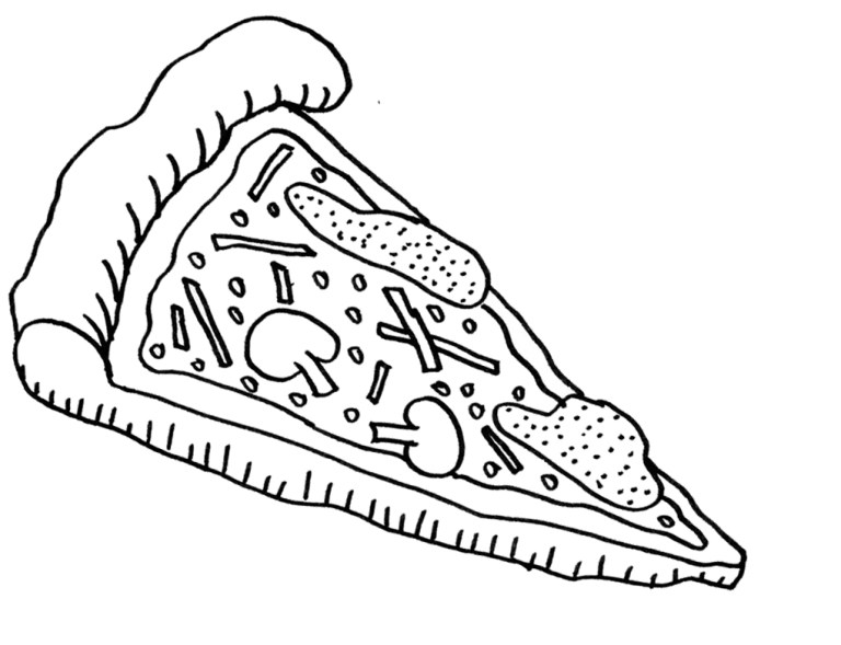 Pizza Coloring Pages Print