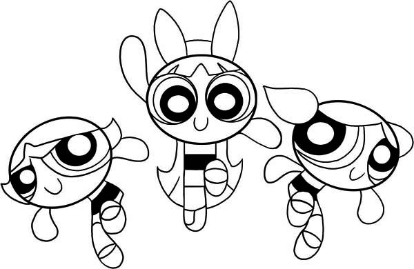 Power Puff Girl Coloring