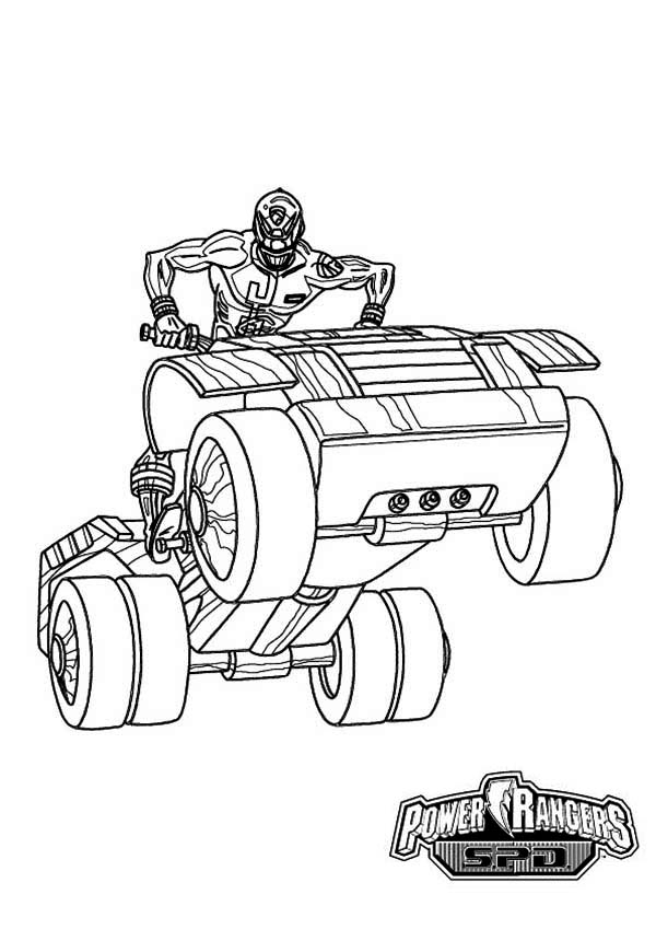 power rangers spd ride an atv coloring page for kids online collection